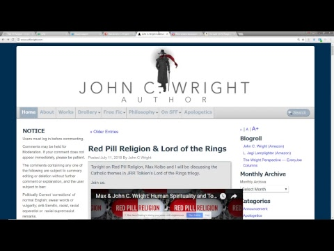 Max & John C. Wright: Human Spirituality and Tolkein's Lord of the Rings