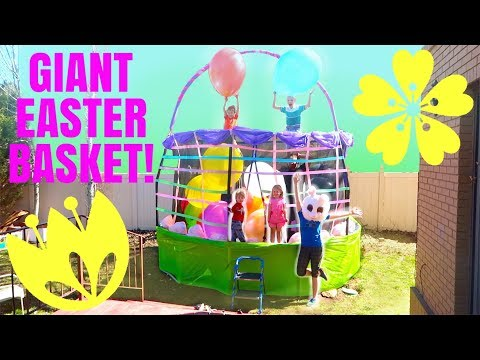 GIANT Easter Basket Egg Hunt PARTY!