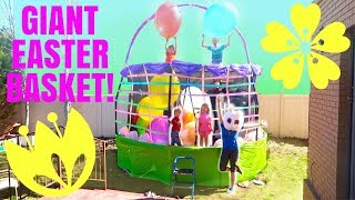 GIANT Easter Basket Egg Hunt PARTY!