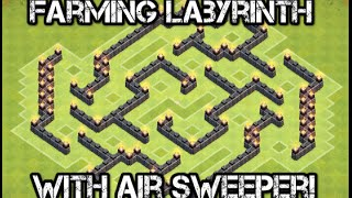 Clash Of Clans - Amazing Town Hall 7 (TH7) Farming Labyrinth Base With Air Sweeper!