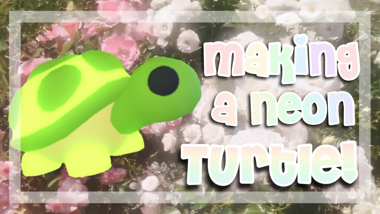 Making A Neon Turtle In Adopt Me Youtube