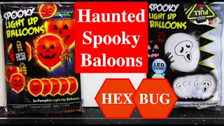 Haunted Balloons - Halloween idea with illoom LED Balloons + HexBug Warriors