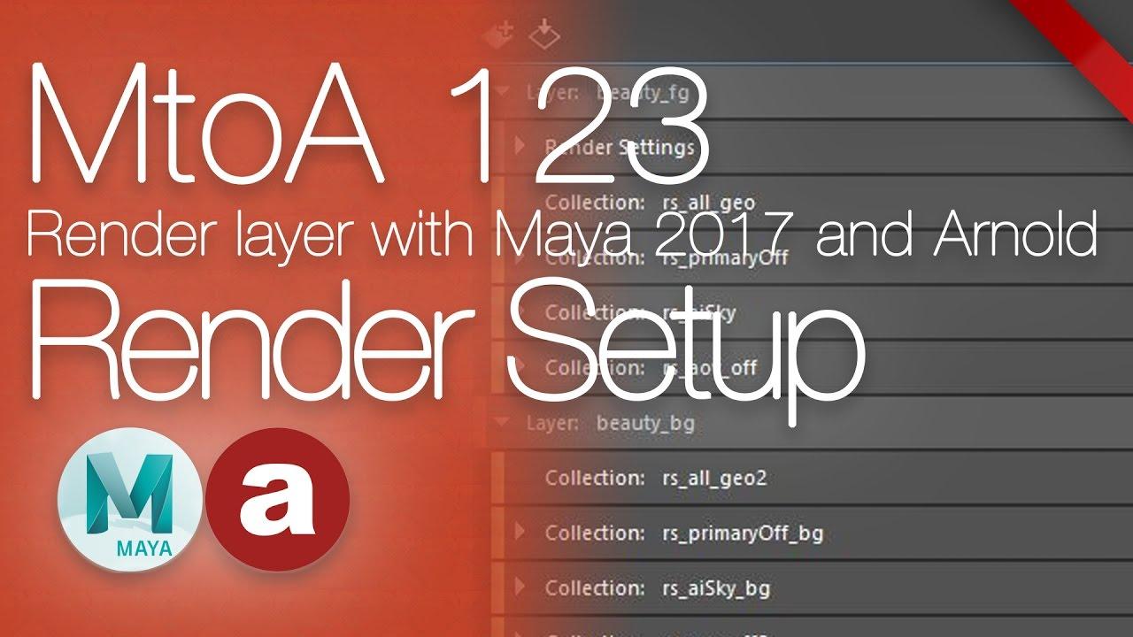 MtoA 123   Render Setup   using Arnold with Maya 2017