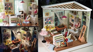 DIY Dollhouse kit Miniature Sewing Room - Lisa's Tailor