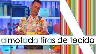 ALMOFADA DE TIRAS DE TECIDO