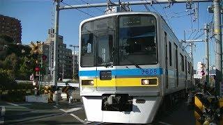 千葉ニュータウン鉄道9800形9808F快特羽田空港行き 八ツ山橋踏切にて