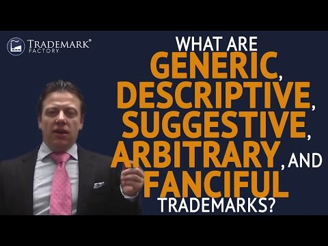 What Are Generic, Descriptive, Suggestive, Arbitrary, Fanciful Trademarks? | Trademark Factory® FAQ