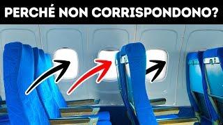 Perché sugli Aerei i Sedili con i Finestrini non Corrispondano e altri 31 fatti sul Volo