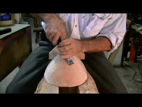 Learn how to make a hand carved wooden bowl.Firewood to bowl. Hand tools only.