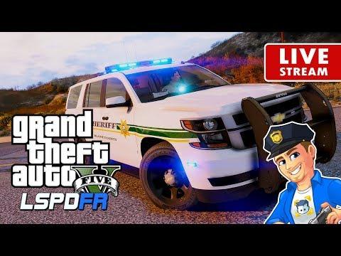 GTA 5 POLICE MOD LSPDFR LIVE BCSO Deputy Sheriff   Road to 5K   GTA 5 LSPDFR Realistic Police Patrol