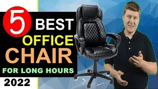 Best Office Chair For Long Hours 🏆 Top 5 Best Office Chair For Long Hours Of Sitting 2021 [REVIEW]