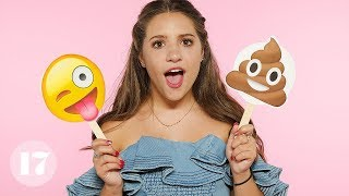 Mackenzie Ziegler Reveals Her Most Embarrassing Stories Using Emojis | Seventeen