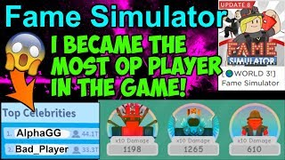 FAME SIM. UPDATE 8!! I BECAME THE BEST PLAYER!! (Roblox)