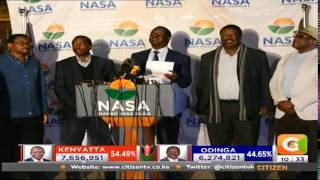 NASA Presidential Candidate Raila Odinga Speech after the Presidential results were trickling in
