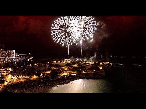 2014 4th Of July Fireworks @ Magic Island HAWAII