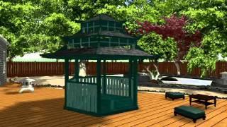Ландшафтный дизайн в стиле Японский сад(Интересный дизайн проект ландшафтного благоустройства в японском стиле от Дома советов http://www.domsovetof.ru/..., 2014-01-19T08:54:52.000Z)