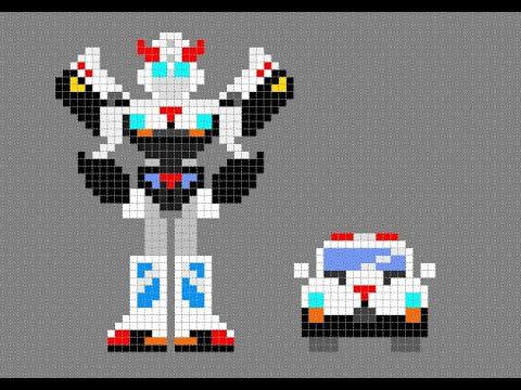 Pixel Art Prowl Transformers G1 Car Transforming Youtube