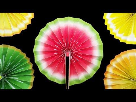 EASY DIY: Paper Fan Crazy Fruits Life Hack - Yakomoga EASY DIY