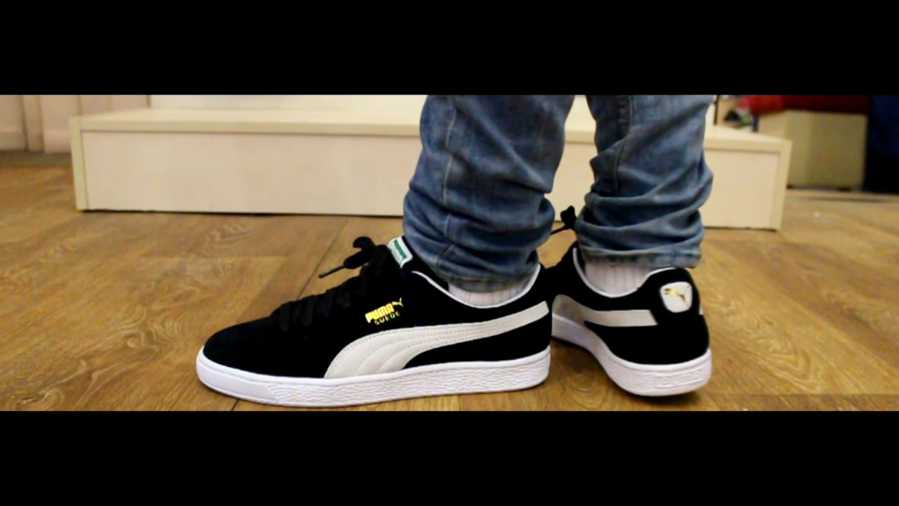 24be70fcd434f8 Onfeet | Puma Suede Classic+ Black\White - YouTube