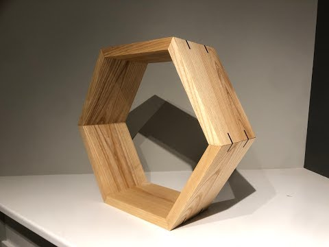 DIY Hexagon (or Honeycomb) Shelves