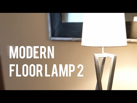 Making another modern floor lamp // DIY