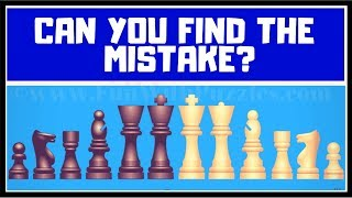 Chess Pieces Mistake Finding Brain Teasers | Visual IQ Test