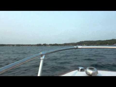 Riding on Boat in Saratoga Lake NY