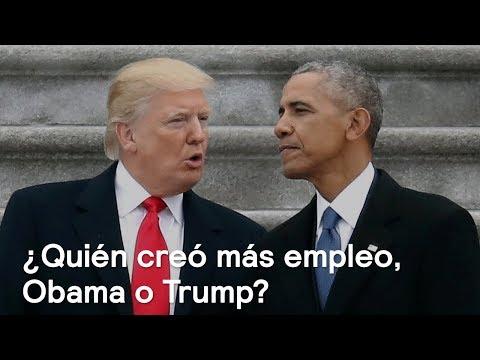 ¿Quién creó más empleo, Obama o Trump? - Foro Global