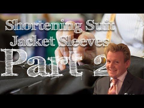Shortening the selves on a suit coat part 2, ASMR (Sew ASMR )