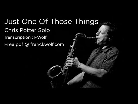 Chris Potter's Tenor Solo on 'Without A Song' (Transcri