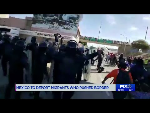 US authorities fire tear gas to disperse migrants at border