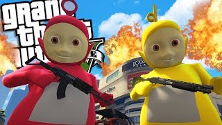 The Teletubbies MOD (GTA 5 PC Mods Gameplay)
