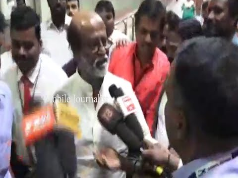 I am not interested to answer your questions: Rajinikanth @Chennai Airport | MJ
