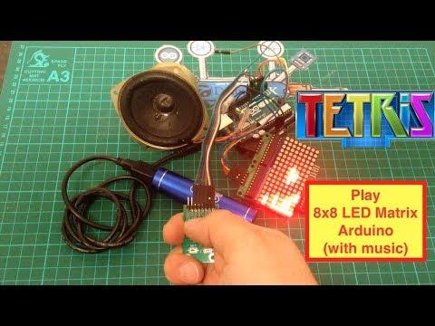 8x8 LED Matrix  Arduino Tetris (with Music)