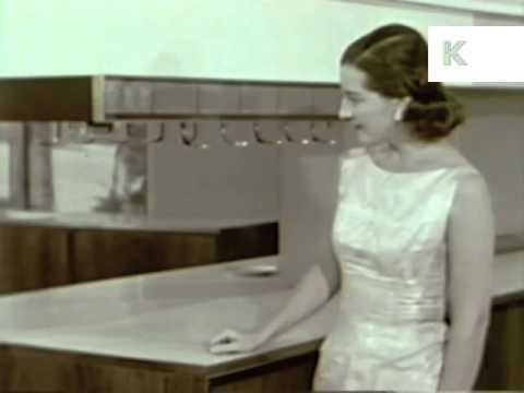 Homes of Tomorrow, Retro Futurism 1940s1960s, Gadgets, Kinolibrary Archive Footage