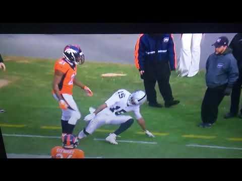 Aquib Talib vs Michael Crabtree FIGHT! 2017 NFL Week 11 Broncos vs Raiders