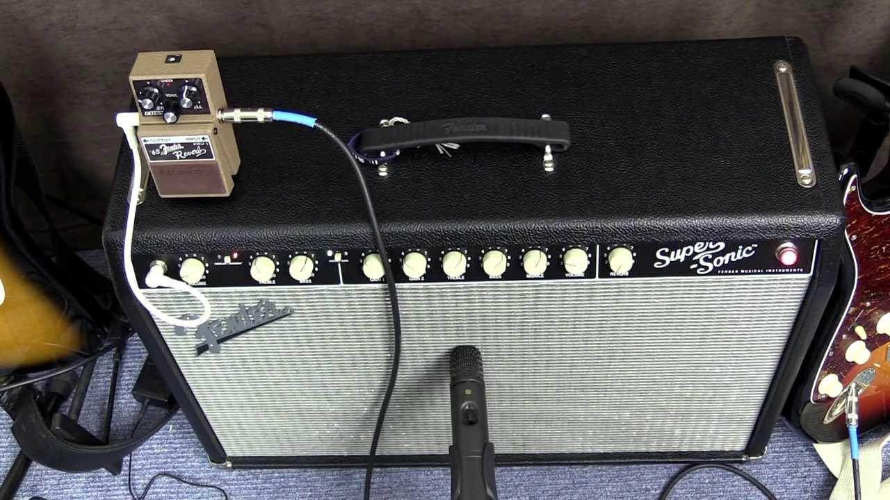 Fender Spring Reverb Vs Boss Fender Fdv 1 Pedal Reverb