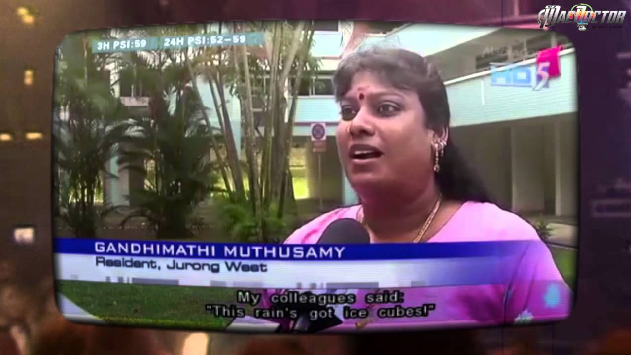 Ice Ice Cubes Singapore Woman Hail Reaction Remix Youtube