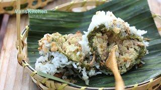 Vietnamese spinach sticky rice balls (Xôi khúc, Bánh khúc)