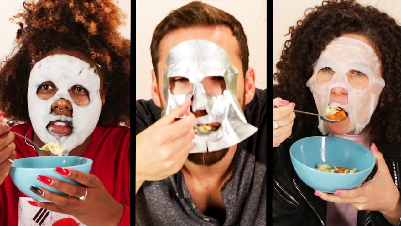 The 'Eating In Face Masks' Challenge
