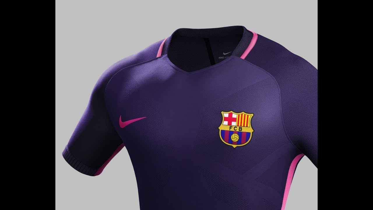 Nike Unveils FC Barcelona Away Kit 2016 17 - YouTube 02978bb75ed05