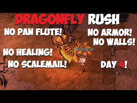 Don't Starve Together → Rush DRAGONFLY without ARMOR/HEALING! Day 4