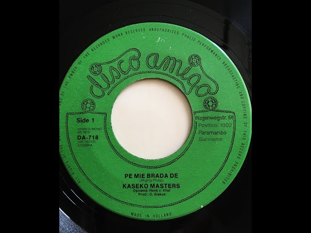Kaseko Masters - Pe Mie Brada De - Befie (single) 1978