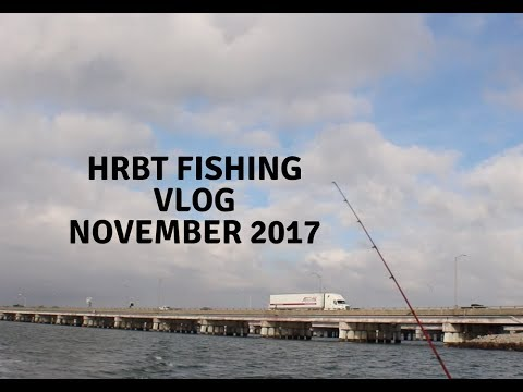 Fishing The Most Conjested Bridge In VA Beach | HRBT Fishing | Slamming Fall Trout