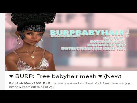 How to Make Baby Hairs On IMVU Free Mesh! - YouTube