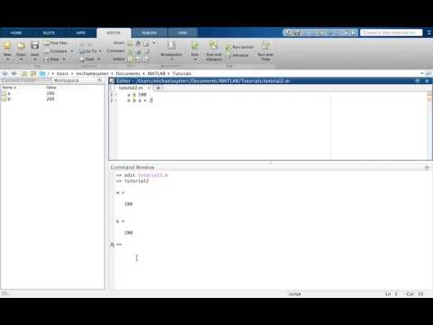 Tutorial2: Introduction to MATLAB for beginners - create/save/edit .m files!
