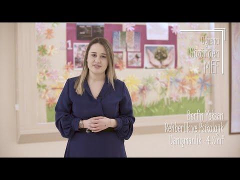 Öğrenci Gözünden MEF Üniversitesi / Berfin Yeksan - Rehberlik ve Psikolojik Danışmanlık
