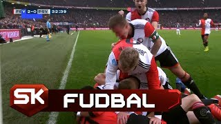 Gol Larsona u Stilu Milana Pavkova | Fejenord - PSV | SPORT KLUB Fudbal
