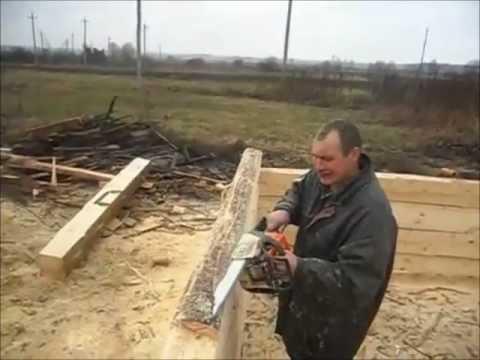 видео: Соединение бревен - Ласточких хвост