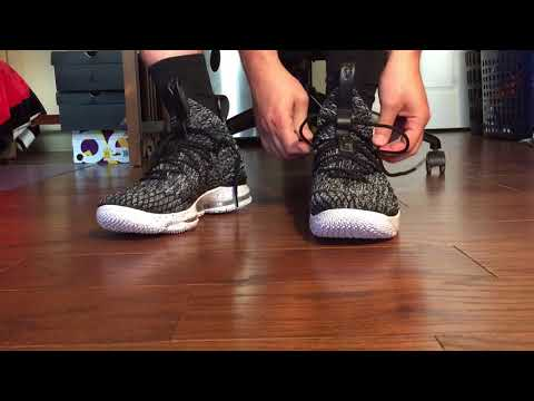 Lebron 15 on foot! How they FIT - YouTube